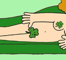 Burlesque St Patrick's  Day Lady Sticker