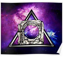 Astronaut Nebula Poster