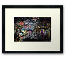 Sydney NYE Fireworks 2015 # 8 Framed Print