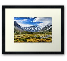 Heathland Mountains Framed Print