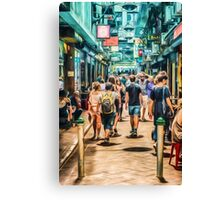 Centre Place Bustle   (GO) Canvas Print