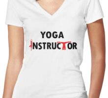 Yoga Instructor Women's Fitted V-Neck T-Shirt