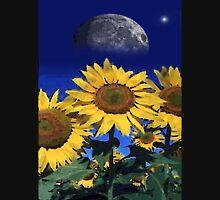 moon sunflower Womens Fitted T-Shirt
