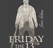 Hand Drawn Friday The 13th Design by JamesFeltham