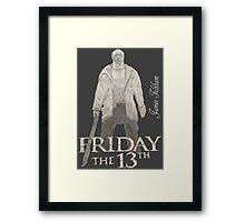 Hand Drawn Friday The 13th Design Framed Print