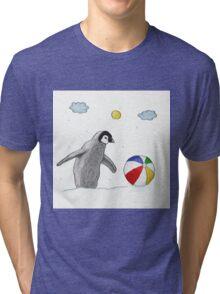 Little Penguin Found Colorful Ball Tri-blend T-Shirt