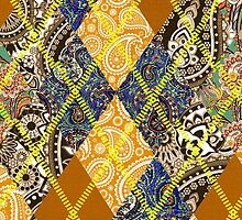 Golden Paisley Argyle Pattern by PrivateVices