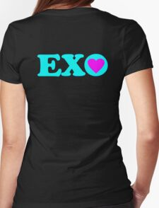 ♥♫I Love EXO Fabulous K-Pop Clothes & Stickers♪♥ Womens Fitted T-Shirt