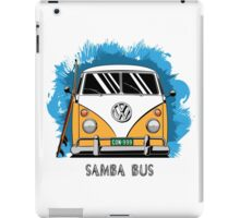 VW T1 Samba Bus (yellow) iPad Case/Skin