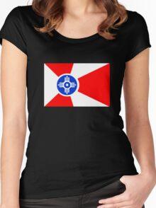 Flag of Wichita, Kansas. Women's Fitted Scoop T-Shirt