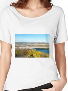 Derbyshire Countryside Winter England  Women's Relaxed Fit T-Shirt