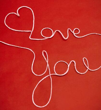 Love You yarn postcard Sticker