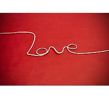 Love yarn postcard Photographic Print