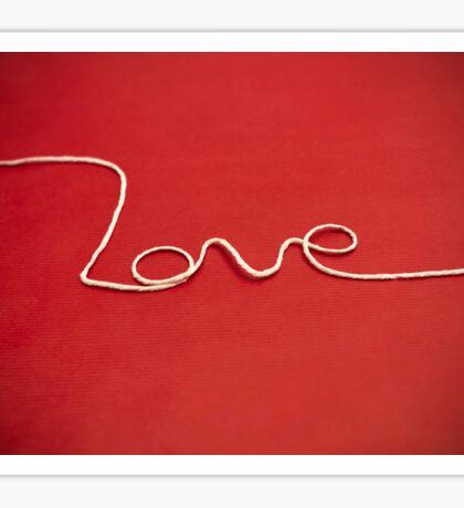 Love yarn postcard Sticker