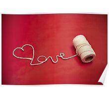 Love You yarn postcard Poster
