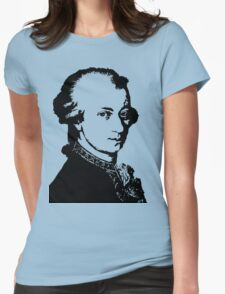 Wolfgang Amadeus Mozart silhouette black and white Womens Fitted T-Shirt