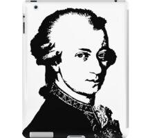 Wolfgang Amadeus Mozart silhouette black and white iPad Case/Skin