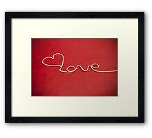 Love hearth yarn postcard Framed Print