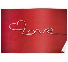 Love hearth yarn postcard Poster