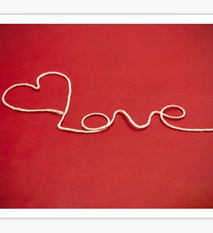 Love hearth yarn postcard Sticker