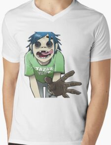 0 gorillaz Mens V-Neck T-Shirt