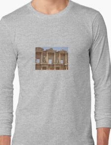 Ephesus - Library Facade Long Sleeve T-Shirt