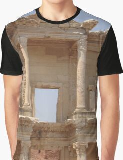 Ephesus - Library Facade Graphic T-Shirt