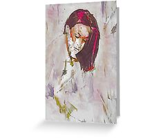 Collections Contemporary Abstract Portrait Greeting Card