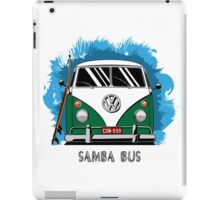 VW T1 Samba Bus (green) iPad Case/Skin