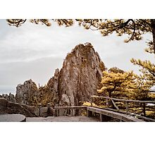 Huangshan Lookout in Infra Red Photographic Print