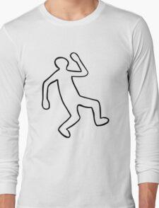 Crime Scene Body Outline Long Sleeve T-Shirt