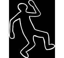 Crime Scene Body Outline Photographic Print