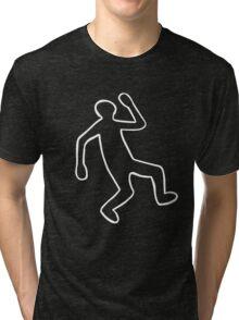 Crime Scene Body Outline Tri-blend T-Shirt