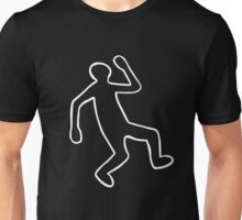 Crime Scene Body Outline Unisex T-Shirt