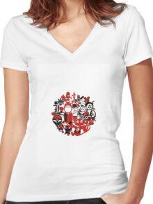 Japan Geek Women's Fitted V-Neck T-Shirt