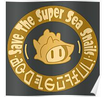 Save The Super Sea Snails LOGO Poster