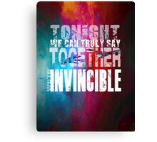 Muse Invincible Canvas Print