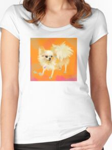 Dog Chihuahua Orange Women's Fitted Scoop T-Shirt