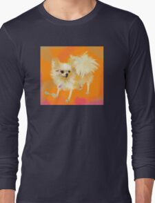 Dog Chihuahua Orange Long Sleeve T-Shirt