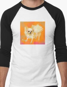 Dog Chihuahua Orange Men's Baseball ¾ T-Shirt