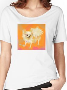 Dog Chihuahua Orange Women's Relaxed Fit T-Shirt