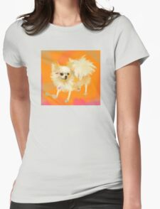 Dog Chihuahua Orange Womens Fitted T-Shirt