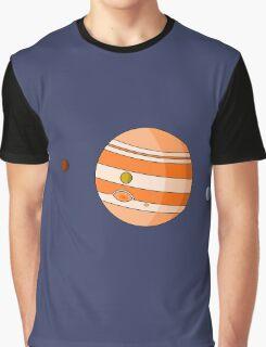 Cartoon Jupiter Planet Graphic T-Shirt