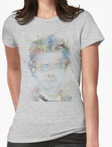 GUSTAV MAHLER - watercolor portrait Womens Fitted T-Shirt