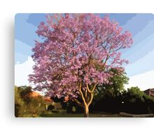 Jacaranda Tree Canvas Print