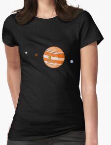 Cartoon Jupiter Planet Womens Fitted T-Shirt