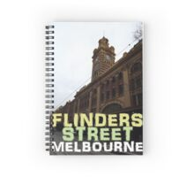 Flinders Street Station Melbourne Spiral Notebook