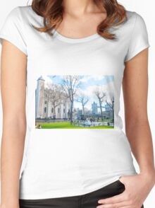 Tower of London and Tower Bridge Women's Fitted Scoop T-Shirt
