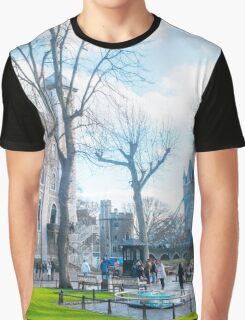 Tower of London and Tower Bridge Graphic T-Shirt