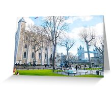 Tower of London and Tower Bridge Greeting Card